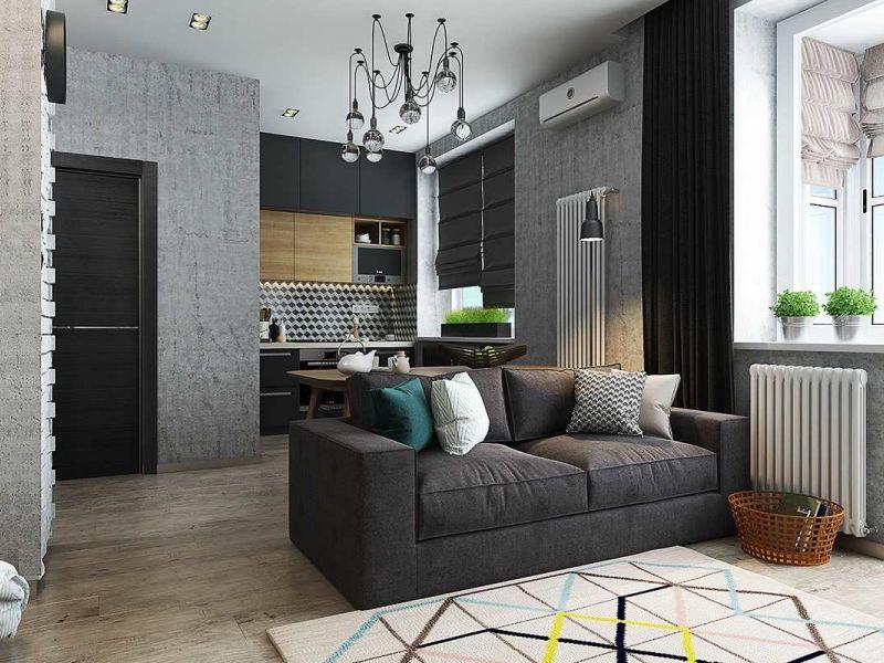 Идеи дизайна однокомнатной квартиры 38 кв. м