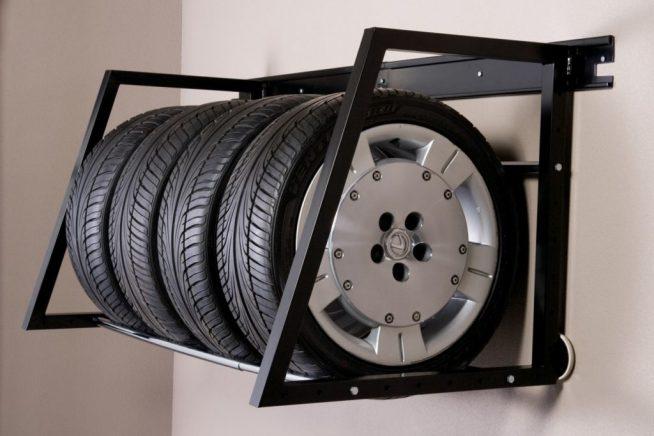 Металлический стеллаж для колёс