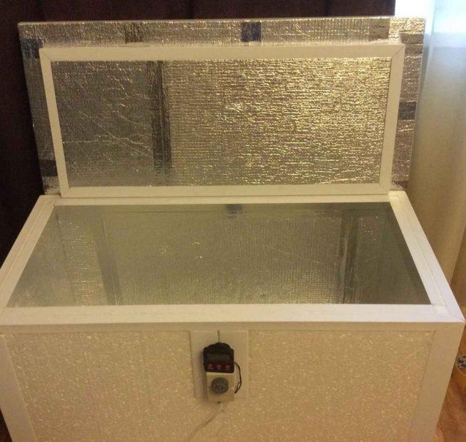 Самодельный утеплённый ящик для овощей