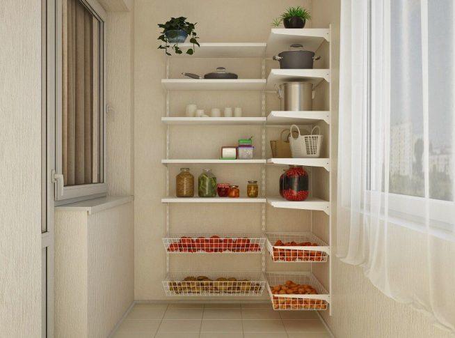 Стеллаж для хранения овощей и домашних консервов