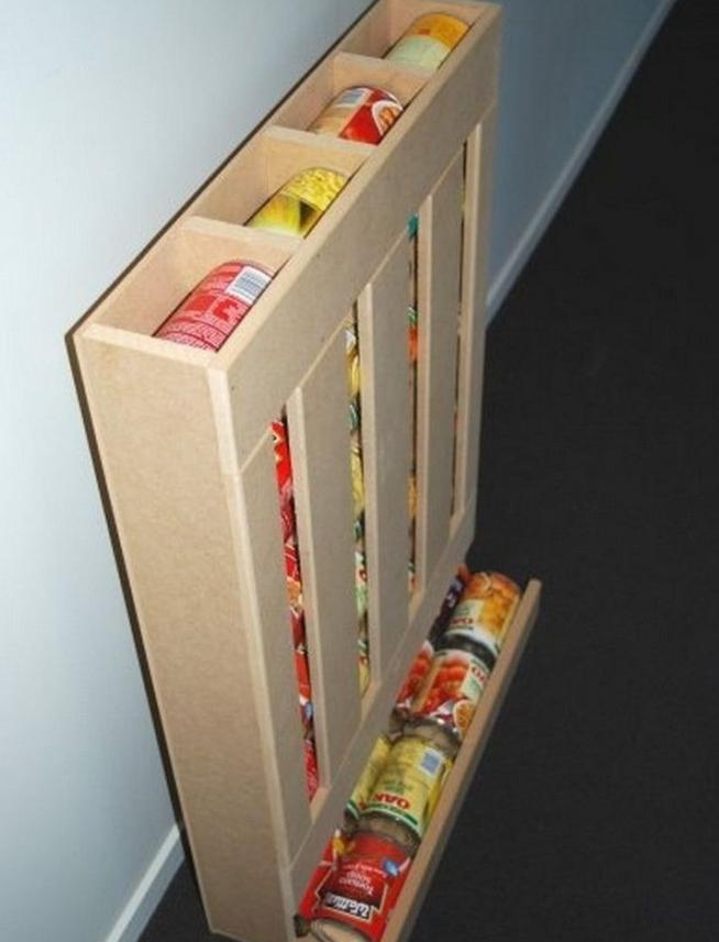 Ящик для хранения металлических банок
