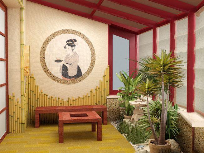 Японский садик на лоджии