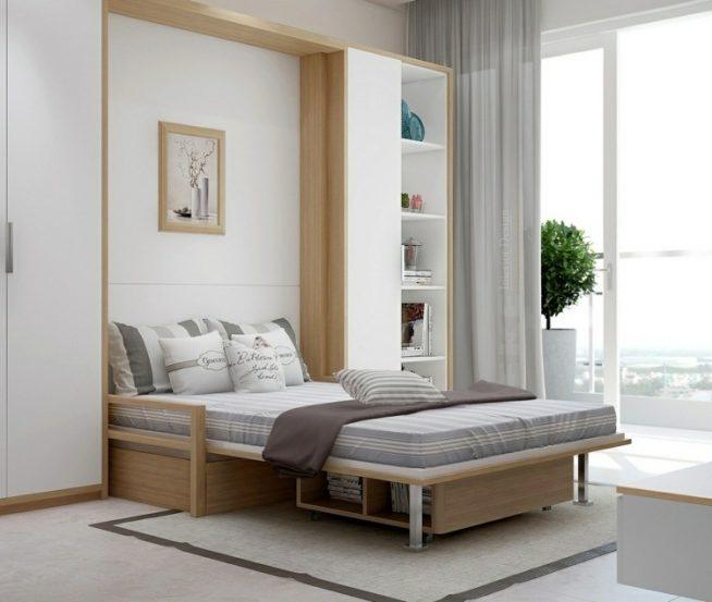 Кровать-трансформер в шкафу-купе