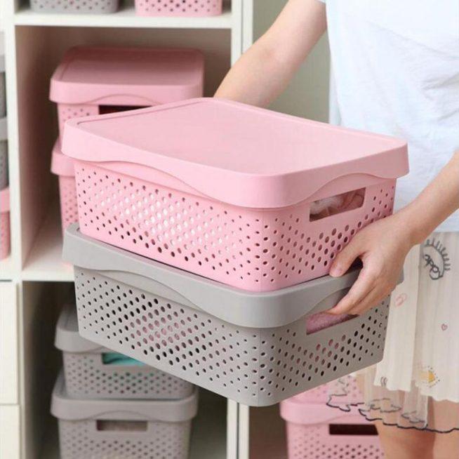 Пластиковые коробки для белья