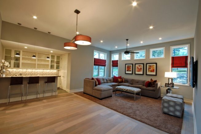 Зонирование квартиры-студии светом