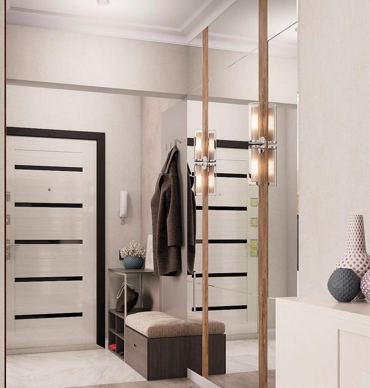 коридор в однокомнатной квартире дизайн фото английская
