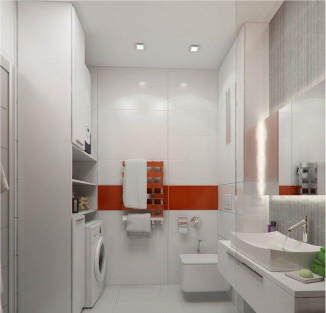 Дизайн ванной комнаты в студии