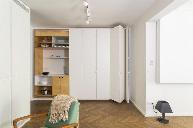 Встроенная кухня в стиле минимализм
