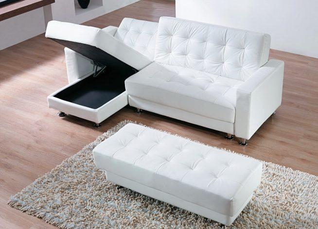 Модульный угловой диван с бельевым ящиком