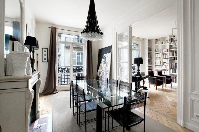 Интерьер кухни-гостиной французского дизайна