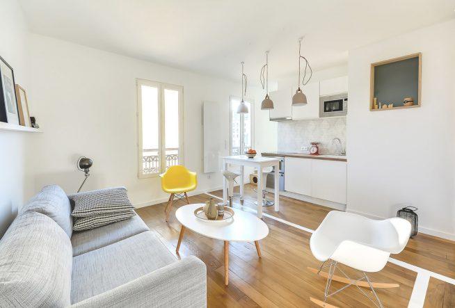 Квартира-студия европейского дизайна
