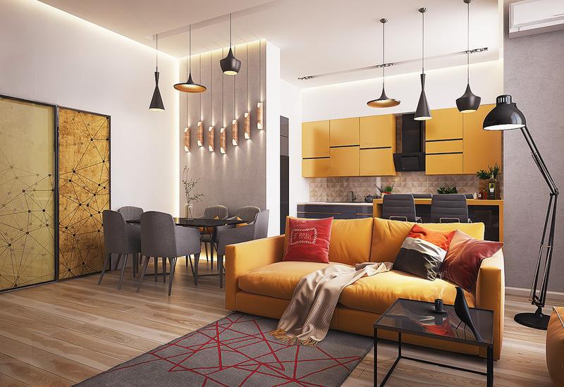 Стильные квартиры-студии: эффектное сочетание формы и содержания