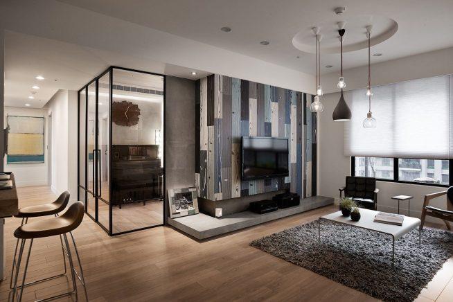 Квартира-студия в современном европейском стиле