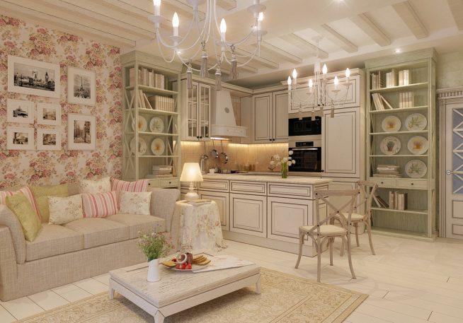 Квартира-студия стиля прованс