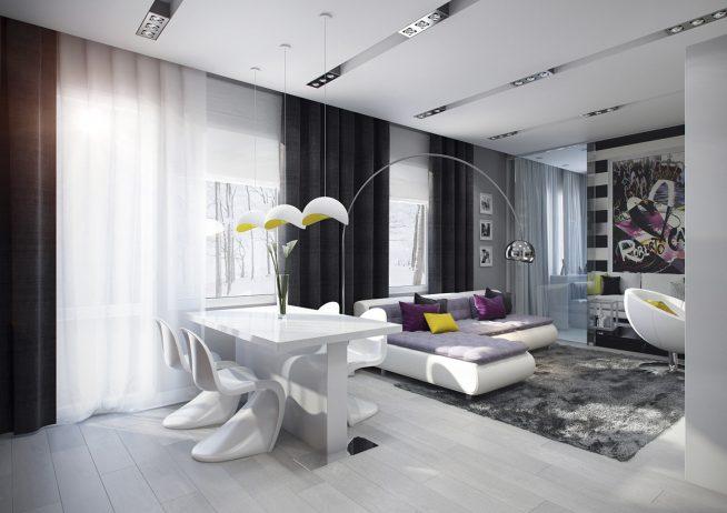Дизайн гостиной 30 кв м