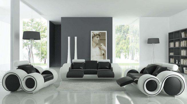Дизайн гостиной в стиле футуризма