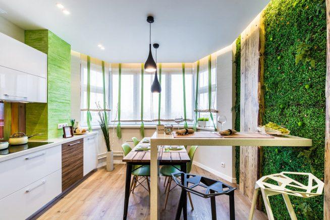 Дизайн кухни в экостиле