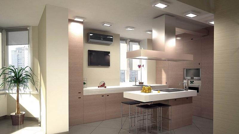 Хозяйке на заметку: идеи интересных и оригинальных интерьеров просторной кухни
