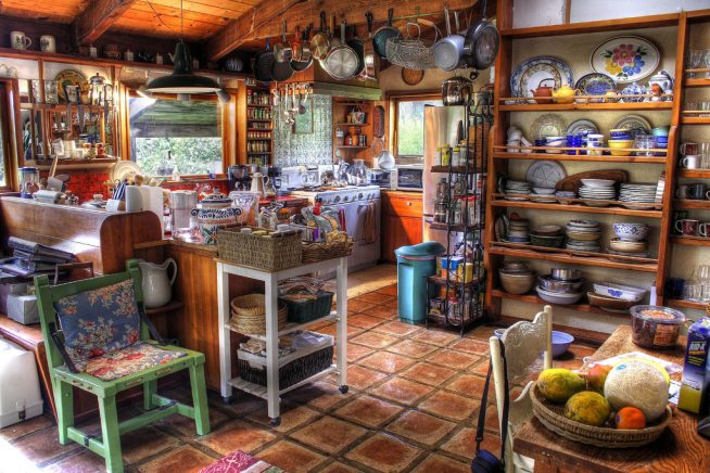 Оригинальная кухня в богемном стиле