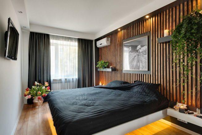 Маленькая спальня в экостиле