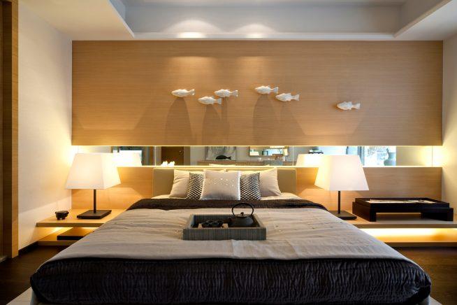 Небольшая спальня в стиле модерн