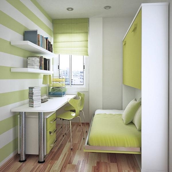 Вариант дизайна узкой детской комнаты