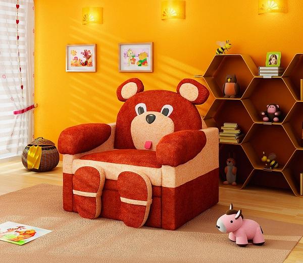 Детское раздвижное кресло