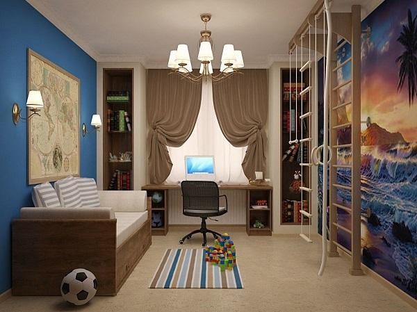 Морская тематика в комнате мальчика
