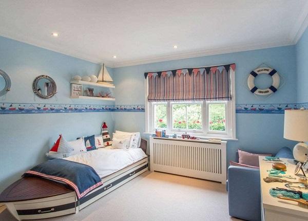 Оформление комнаты мальчика в морском стиле