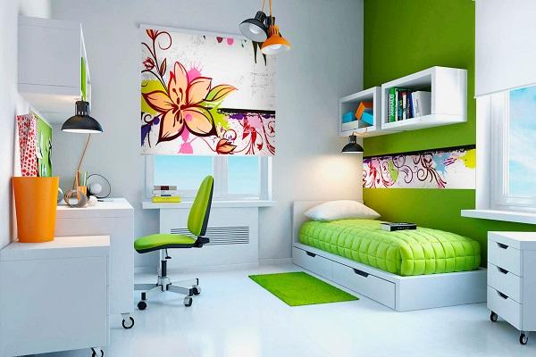 Изящная комната девочки в стиле хай-тек