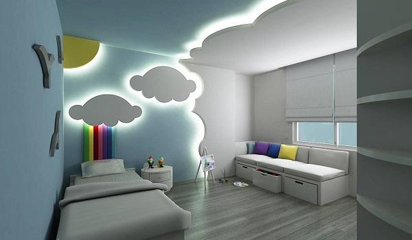 Подсветка стен и потолка детской комнаты