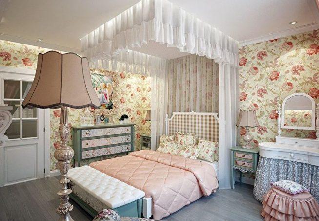 Эффектная спальня в стиле прованс