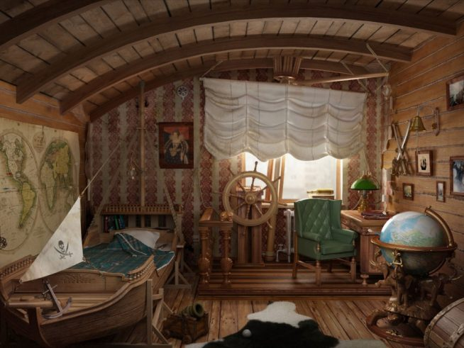 Спальня для мальчика в пиратском стиле