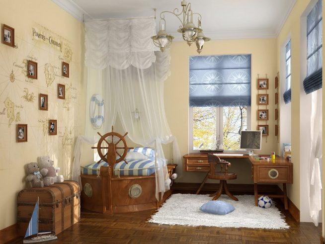 Элегантная комната подростка в морском стиле