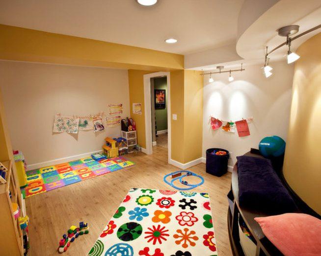 Освещение детской комнаты потолочными светильниками