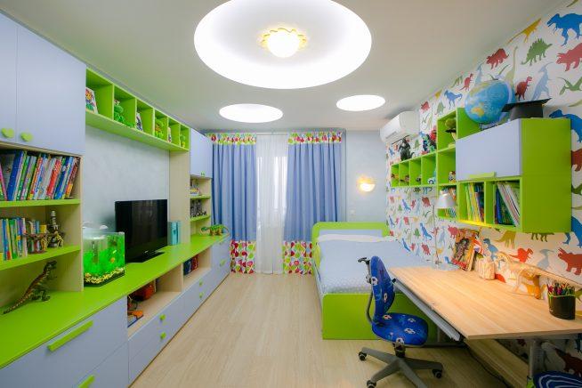 Эффективное освещение длинной и узкой детской