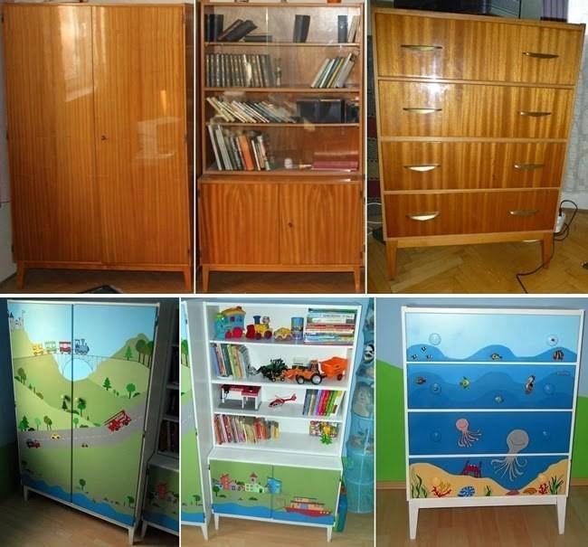 Обновление полированных шкафов