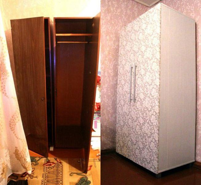Обновление полированного шкафа