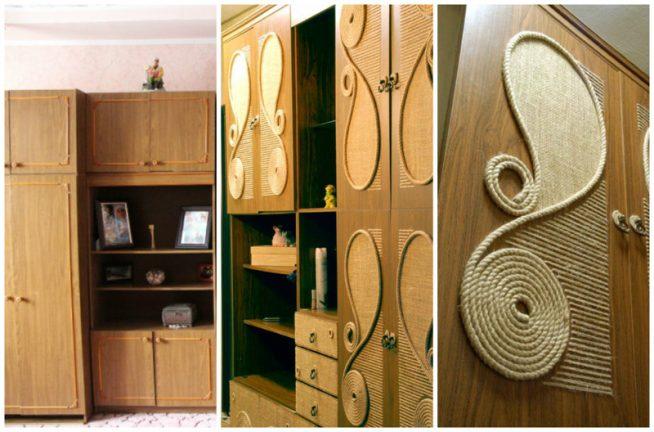 Обновление старой полированной мебели