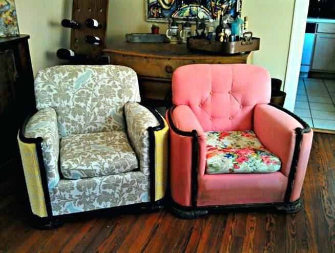 Уютное обновлённое кресло