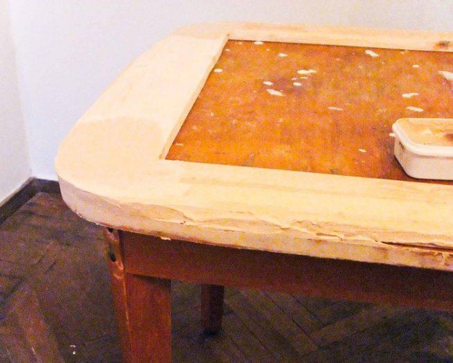 Старая столешница демонтирована