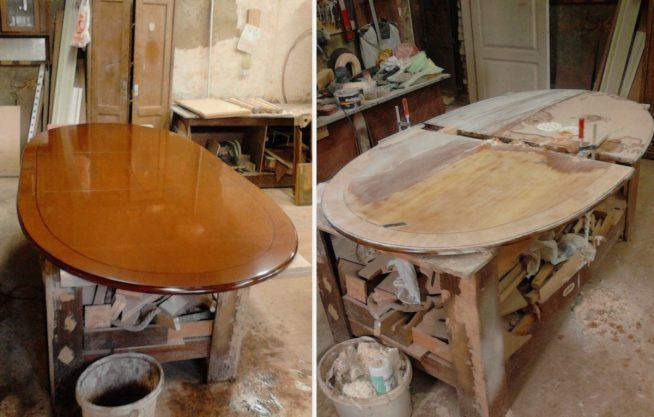 Замена лакового покрытия стола