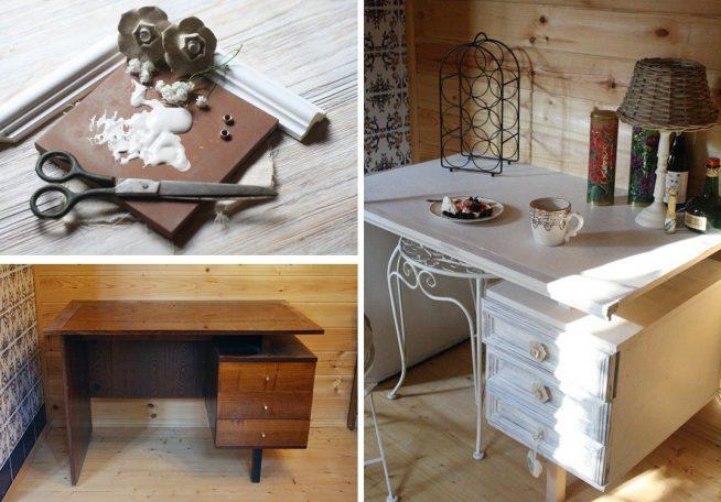 Преображение старого стола своими руками