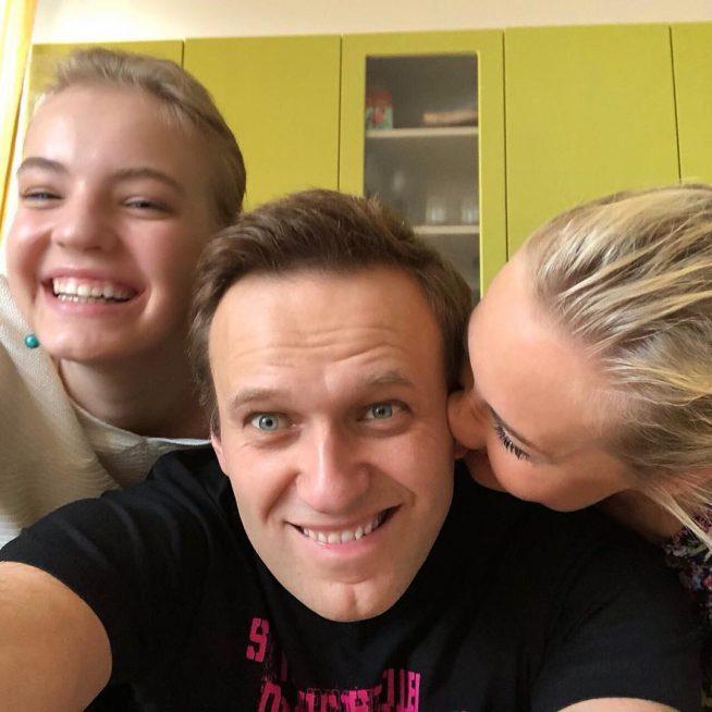 Алексей Навальный с семьёй