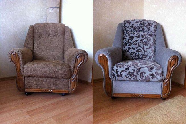 Замена обшивки кресла