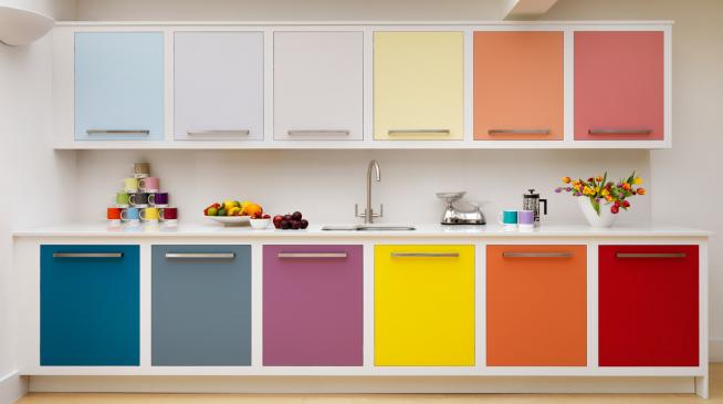Окраска фасадов кухонного гарнитура