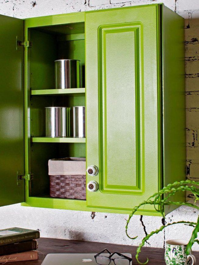 Покраска кухонного шкафа акриловой краской