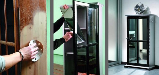 Шкаф с зеркальными элементами