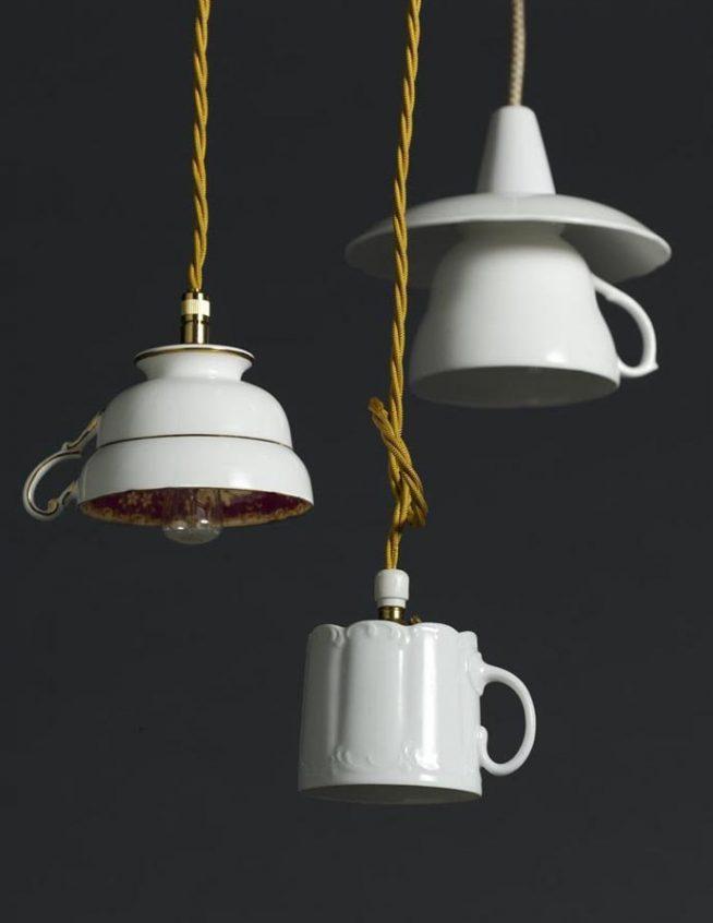 Люстра из чайных чашек