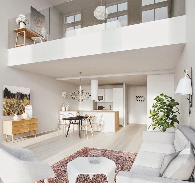Идеи обустройства двухуровневой квартиры-студии